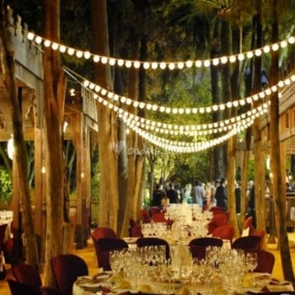 Villa Luisa exterior iluminado